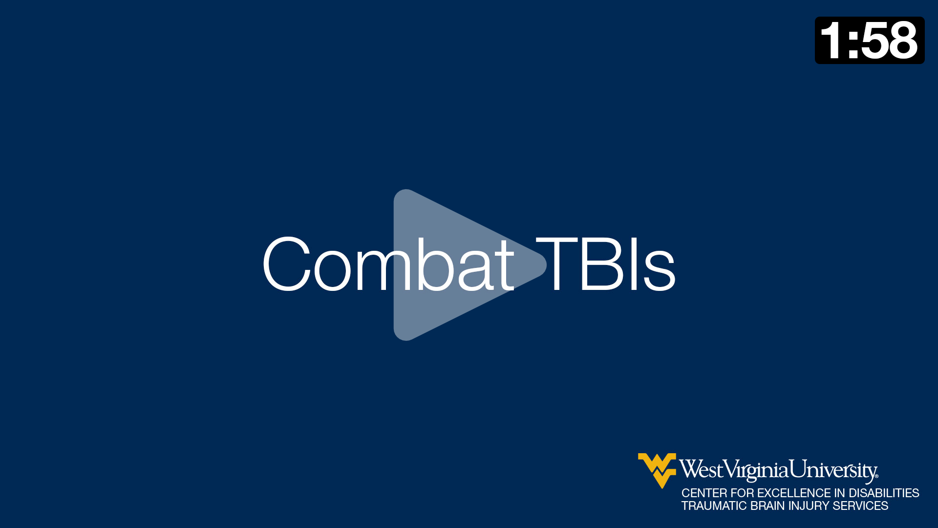 Stephen Heck talks about combat TBIs