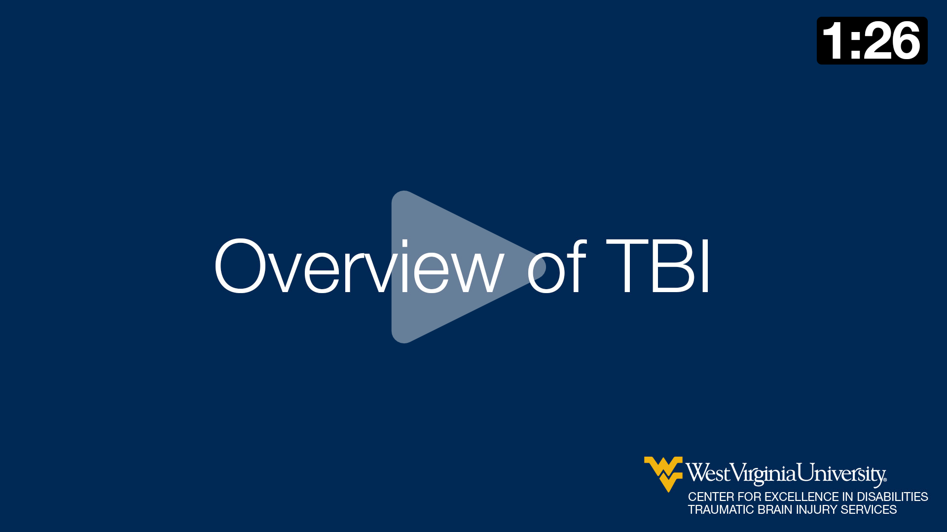Overview of Traumatic Brain Injury (TBI)